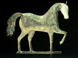 A Molded Copper and Cast Zinc Horse Weathervane