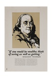 1920s American Banking Poster  Ben Franklin