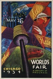 See  Hear  Play  Chicago 1934 World's Fair Poster