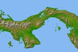 Topographic Image of Panama
