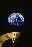 Earth and Clock Face at 11:57