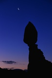 Silhouette of Balanced Rock at Sunrise