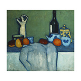 Still Life with Bottle  Fruit and Figure