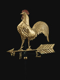 Feathered Rooster and Arrow Weathervane