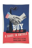 World War Ii Poster  Buy a Share in America