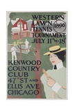 Western Lawn Tennis Tournament Kenwood Country Club Poster