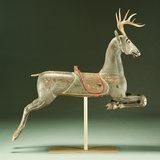 A Rare Painted and Carved Carousel Deer