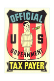Impoverished American Taxpayer in Barrel