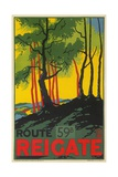 Travel Poster for Reigate  Surrey  England