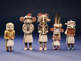 Five Hopi Cottonwood Kachina Dolls