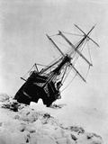 Ernest Shackleton's Expedition Ship Endurance Trapped in Ice Papier Photo
