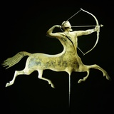 A Fine and Rare Molded and Gilt Copper Weathervane