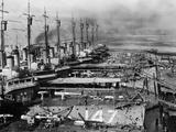 Naval Ships Undergoing Repairs