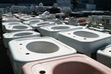 Old Sinks in Junkyard
