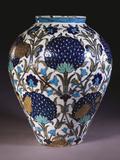 A Glazed Earthenware 'Persian' Vase