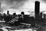 Remains of Buildings after the San Francisco Earthquake  1906