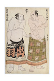 Portraits of Wrestlers of the Western Group  Depicting Sekinoto Hachiroji and Dewanoumi Kinzo