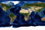Blue Marble: Next Generation Map of the Continents