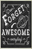 Be Awesome Inspirational Chalkboard Look Wall Plaque