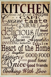Kitchen and Words Off White Wall Plaque