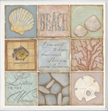 Count the Waves Beach 9 Patch Wall Plaque