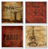 Paris This Paris That 4 Pc Wall Plaque Set