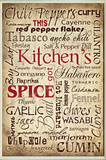 Kitchen Spice Words Wall Plaque