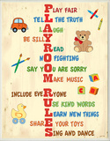 Playroom Rules Acrostic Typography
