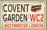 Covent Garden WC2 Railroad Wall Plaque
