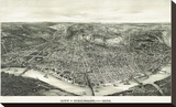 Panoramic View of the City of Cincinnati  Ohio  1900