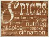 Spices and Words Brown Wall Plaque
