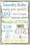 Laundry Room Typography Wall Plaque