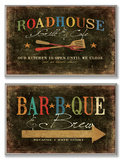 Roadhouse Grill BBQ and Brew Wall Plaque Duo