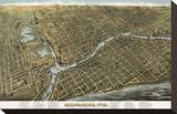 Bird's Eye Map of Milwaukee  Wisconsin  1872