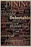 Dining and Words Black Wall Plaque