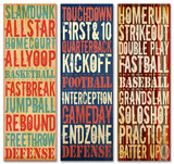 Trio of Sports Typography Set