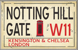 Notting Hill Gate W11 Railroad Wall Plaque