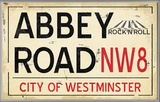 Abbey Road NW8 Railroad Wall Plaque