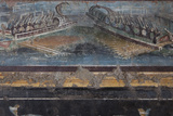 Italy  Naples Museum  from Pompeii  Isis Temple  Naumachia  Representation of a Naval Battle