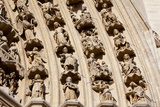 France  Amiens Cathedral (World Heritage Site)  South Transept  Portal of the Golden Virgin