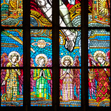 Prague  St Vitus Cathedral  Chevet Windows  Central Window  The Holy Trinity