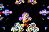 Prague  St Vitus Cathedral  Thunov Chapel  Stained Glass Window  Psalm 126:5