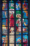 Prague  St Vitus Cathedral  Stained Glass Window  Chevet Southern Window