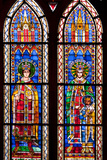 France  Alsace  Strasbourg  Strasbourg Cathedral  Stained Glass Window  Otto III and Conrad II