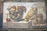 Italy  Naples Museum  from Pompeii  Praedia of Julia Felix (II  4  3)  Still Life  Fruit in a Bowl