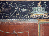 Italy  Naples  Naples National Archeological Museum  from Pompeii  Frieze with Drawing Branch