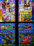 Prague  St Vitus Cathedral  Thunov Chapel  Stained Glass Window  Psalms  Psalm 126:5