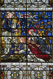 England  Salisbury  Salisbury Cathedral  Stained Glass Window  Jesus revealed to Two Women