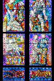 Prague  St Vitus Cathedral  Thunov Chapel  Stained Glass Window  Psalm 126:5  Central Section