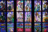 Prague  St Vitus Cathedral  Thunov Chapel  Stained Glass Window  Psalm 126:5  Lower Tiers